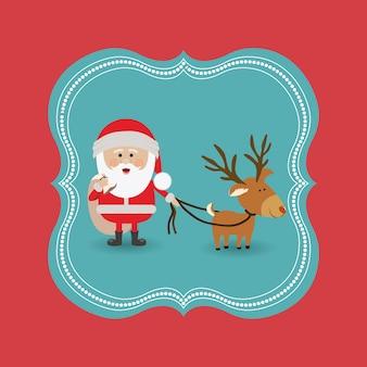 Концепция Рождества Рождества с дизайном иконок