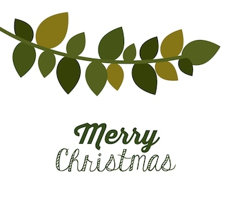 Merry Christmas concept with decoration icons