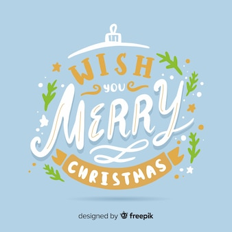 Merry christmas concept with lettering