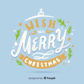 글자와 함께 메리 크리스마스 컨셉
