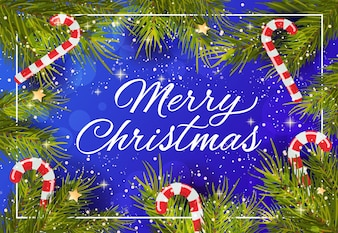 Merry Christmas creative lettering