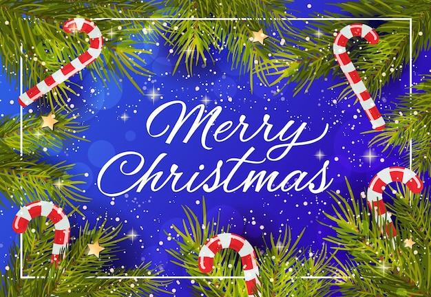 Веселая рождественская креативная надпись