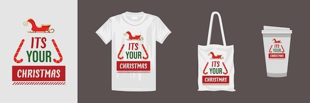 メリークリスマスクリエイティブタイポグラフィデザイン。 tシャツ、マグカップ、ギフト、その他の印刷に適しています。