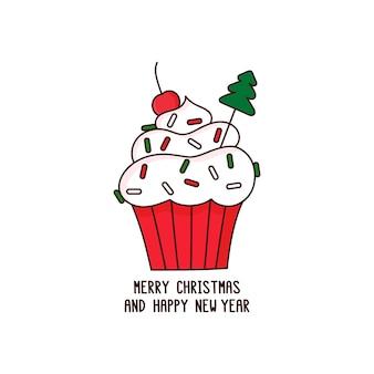 Merry christmas cupcake