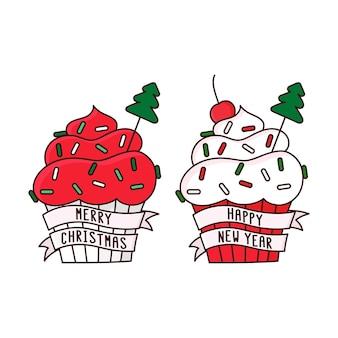 Merry christmas cupcakes