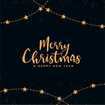 Merry christmas decorative black and gold background