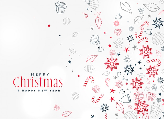 Merry christmas decorative element design background