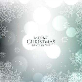 Merry christmas decorative festive bokeh card