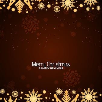 Счастливого рождества декоративные снежинки дизайн фона