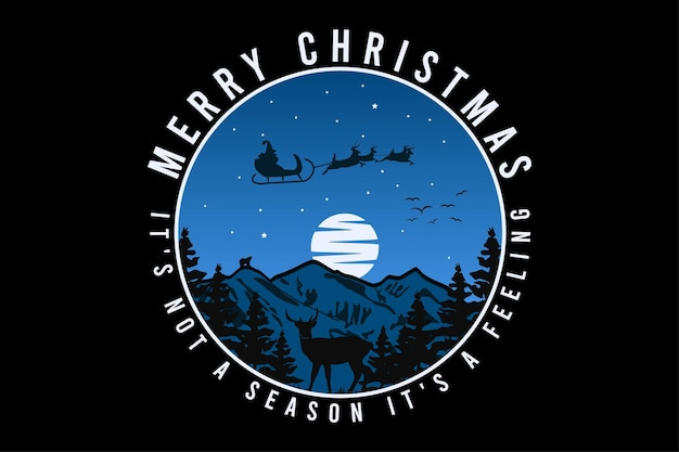 메리 크리스마스, 디자인 미사 복고풍 스타일