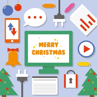 Merry christmas ecommerce icons