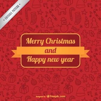 Merry christmas editable pattern