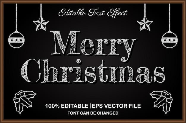 메리 크리스마스 편집 가능한 텍스트 효과 3d 스타일