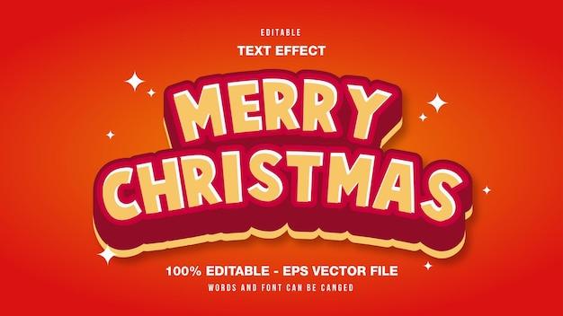 С рождеством христовым редактируемый текстовый эффект