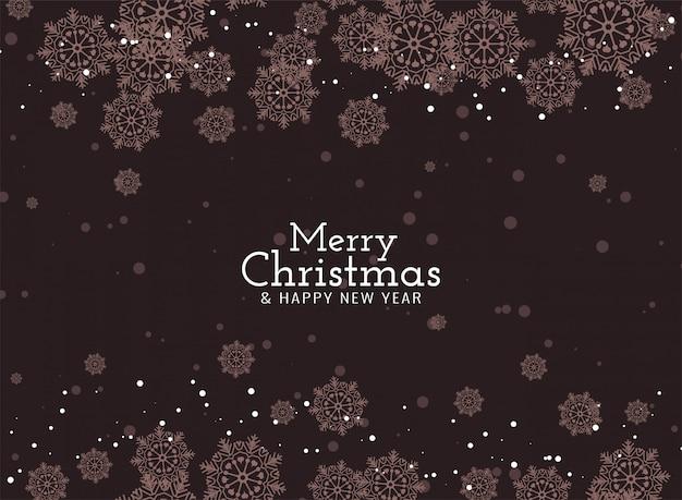 Merry christmas elegant  with snowflakes