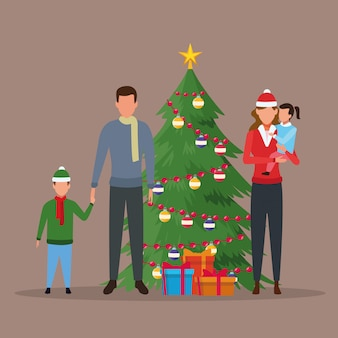 Merry christmas in family