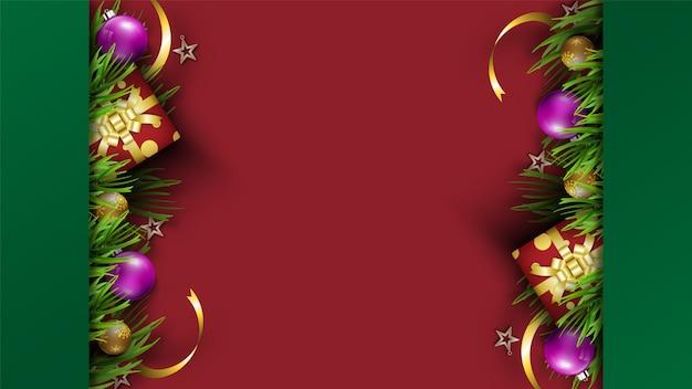 메리 크리스마스 축제 배경 휴일. 크리스마스 장식 시즌