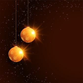 Merry christmas festival celebration background with ball decoration