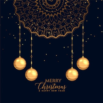 Merry christmas festival decorative card background