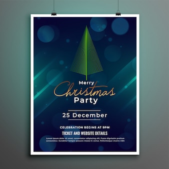 Merry christmas festival flyer poster template design