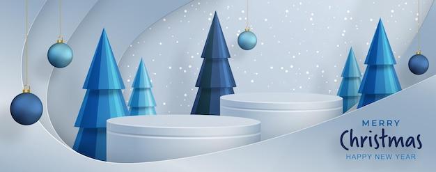 招待状、メリークリスマス、明けましておめでとう、グリーティングカード、ポスターまたはwebバナーの色の背景にクリスマスボールと雪片のコンセプトを持つメリークリスマスのお祝いパターン