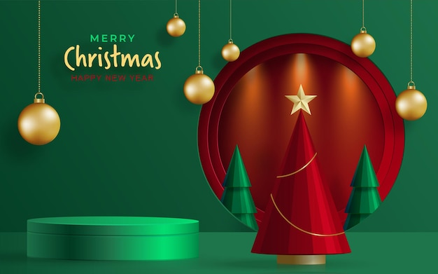 Merry christmas festive pattern with christmas balls and snowflakes concept on color background for invitation card, merry christmas, happy new year, greeting cards, poster or web banner