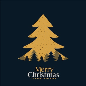 메리 크리스마스 플랫 축제 카드