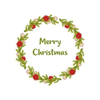 С рождеством христовым цветок печенье венок