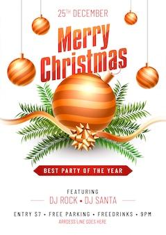 Merry Christmas flyer.