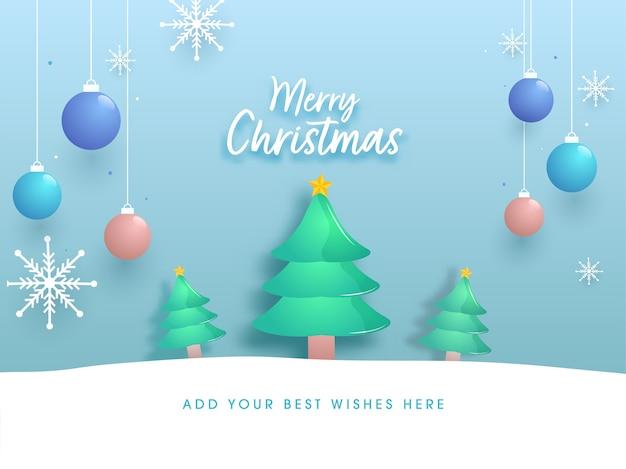 С рождеством христовым шрифт с глянцевыми елками