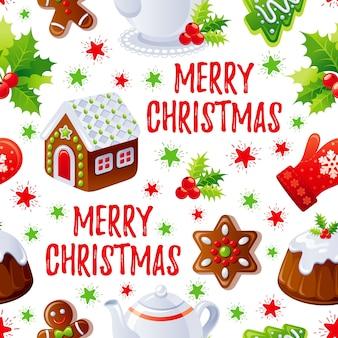 Merry christmas food