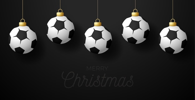 メリークリスマスフットボールのグリーティングカード