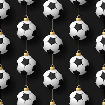 Merry christmas football seamless pattern.