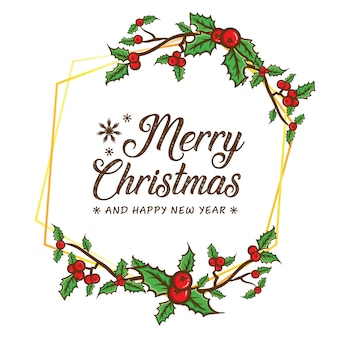 Merry christmas framing background template
