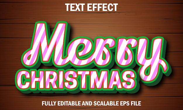 Merry christmas fully editable text effect