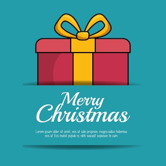 Merry christmas gift isolated icon vector illustration design