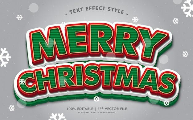 메리 크리스마스 선물 텍스트 효과 스타일