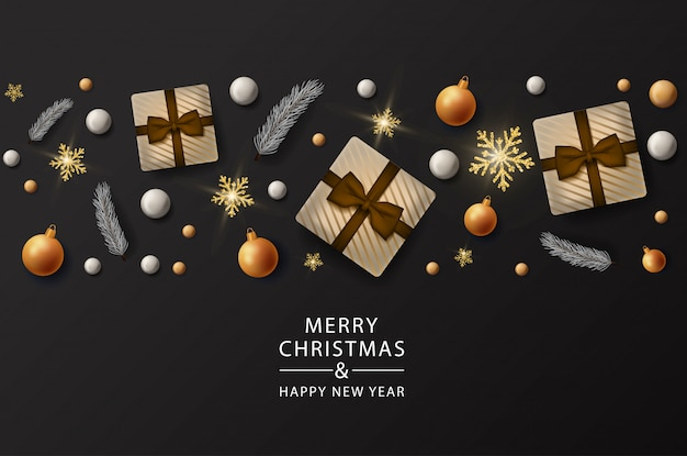 Merry christmas gifts banner