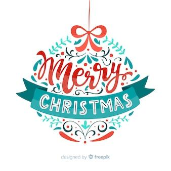 Merry christmas globe lettering