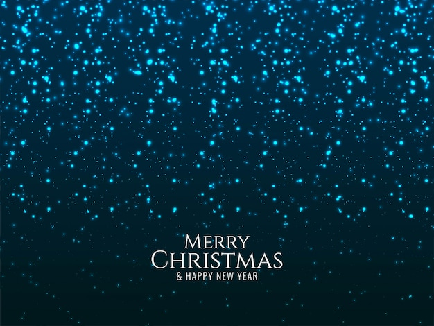 Merry christmas glowing blue glitters background