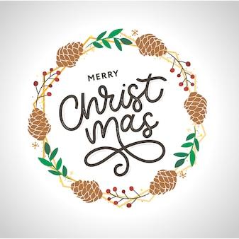 Merry christmas gold glittering lettering design.  illustration eps 10