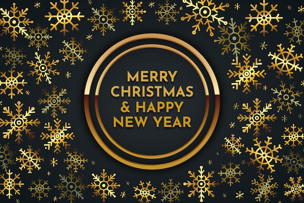 Merry christmas golden lettering background