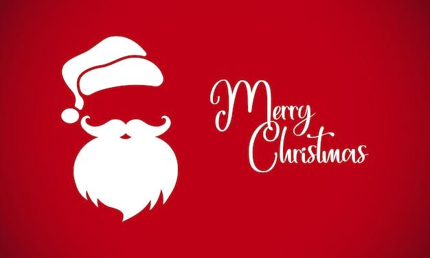 サンタクロースとメリークリスマスの素晴らしいカード。孤立した背景上のベクトル。 eps10。