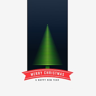 Merry christmas green tree design background