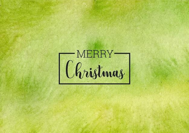 С рождеством христовым зеленый акварельный фон
