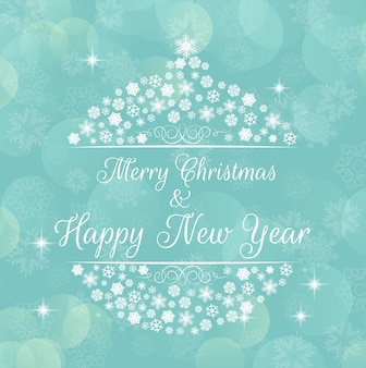 Merry christmas greeting background