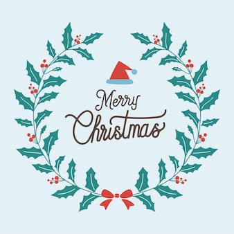 Merry christmas greeting badge