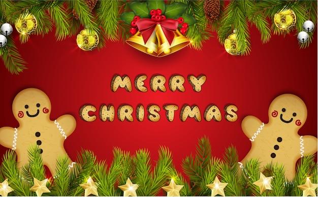 Merry christmas greeting banner