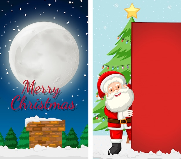 Merry christmas greeting card background vertical