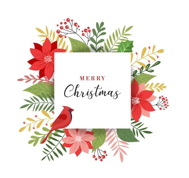 С рождеством христовым поздравительная открытка, баннер и элегантный